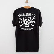 Uppercut Grease Monkey Lives T-Shirt - Black/White Print - L - Black/White