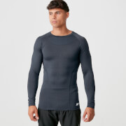 Myprotein Charge Compression Long Sleeve Top - Navy Marl - L - Navy Marl