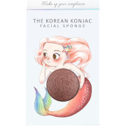 The Konjac Sponge Company Mythical Mermaid Konjac Sponge Box and Hook - Red Clay 30g